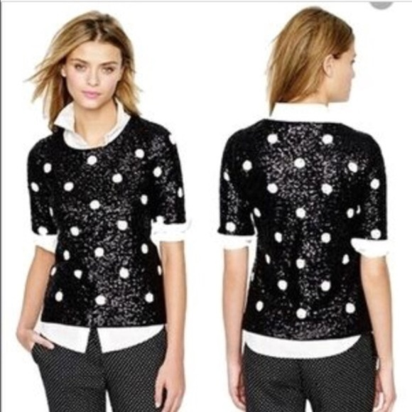 J. Crew Tops - J Crew sequin polka dot top